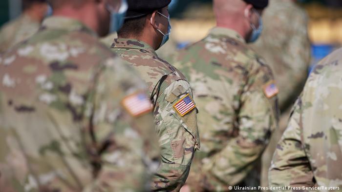 Военные США на открытии учений Rapid Trident-2020