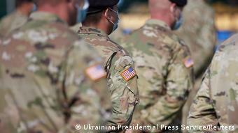 Американские военные во время учений в районе Львова, сентябрь 2020 года