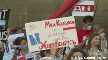 Belarus Solidaritätskundgebung für Maria Kalesnikava