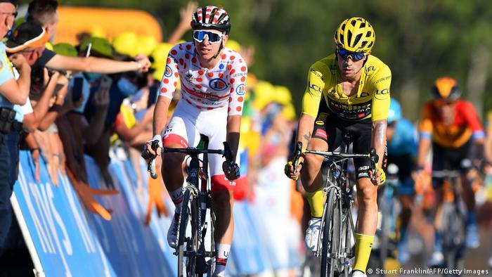 Tour de France | Etappe 18. | Primoz Roglic und Tadej Pogacar