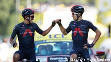 Tour de France | Etappe 18. | Richard Carapaz und Michal Kwiatkowsk (Stephane Mahe/Reuters)