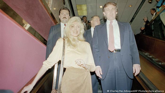 USA Donald Trump und Marla Maples (1990)