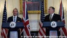 USA Außenminister Mike Pompeo mit UK-Außenminister Dominic Raab