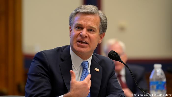 USA I Anhörung im Kongress I Christopher Wray (Chip Somodevilla/Pool/Reuters)