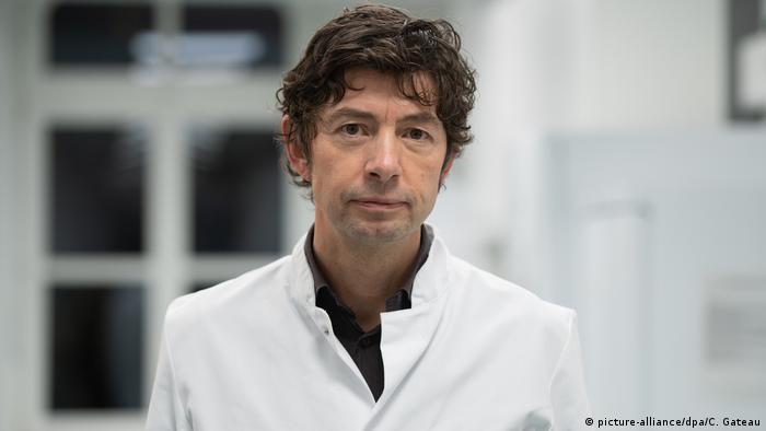 Профессор Кристиан Дростен - директор Института вирусологии клиники Шарите
