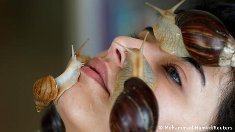 Norma Rašija uživa dok joj gigatnski afrički puževi masiraju lice. Time se, kažu, pojačava kolagen u koži. Ko želi na ovakav tretman, treba da ode u centar Amana, glavnog grada Jordana.