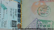 Reisepass mit indonesischem Stempel