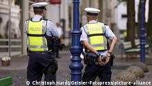 Deutschland Polizeistreife in Köln