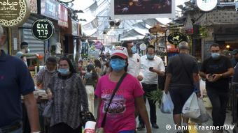 Israel Coronavirus Lockdown Markt