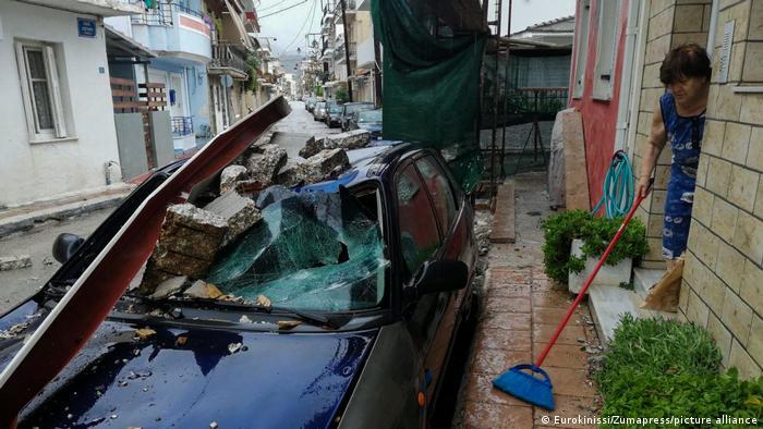 Griechenland Wirbelsturm Ianos (Eurokinissi/Zumapress/picture alliance)