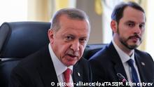 Cumhurbaşkanı Recep Tayyip Erdoğan ve eski Maliye ve Hazine Bakanı Berat Albayrak