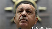 """Turkey President Recep Tayyip Erdogan speaks during his weekly party conference at Turkish Parliamentary, in Ankara, Turkey, on December 05, 2017. Turkey cannot be tried by """"virtual courts"""" in the United States, President Recep Tayyip Erdogan said. """"My country can never be condemned by virtual courts set up by FETO (Fethullahist Terrorist Organisation) scoundrels, fake representatives,"""" Erdoğan said. FETO refers to o Fethullah Gulen, a Muslim cleric living in Pennsylvania who has been blamed for last year coup attempt in Turkey and who is now being accused by Turkey of manipulating the US court process. Erdogan made the comments in a televised speech in response to the Manhattan testimony Friday of Reza Zarrab, a gold trader with ties to the Turkish government who testified that Erdogan played a role in a scheme to help Iran avoid US and UN sanctions. Photo by Depo photos/ABACAPRESS.COM  """