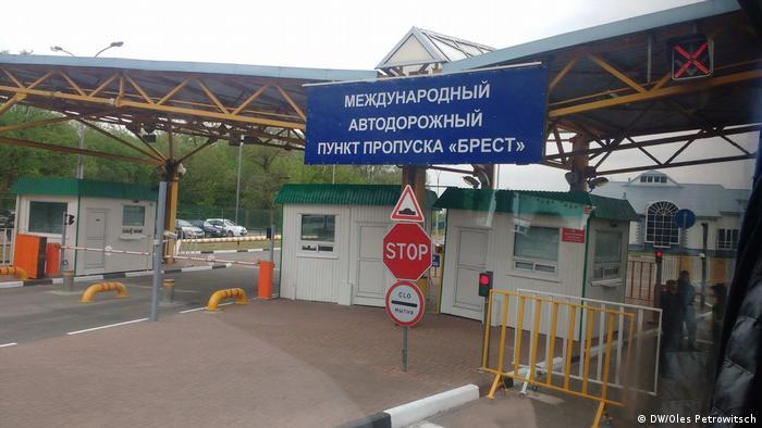 Grenzkontrolle an der Grenze zwischen Weißrussland und Polen