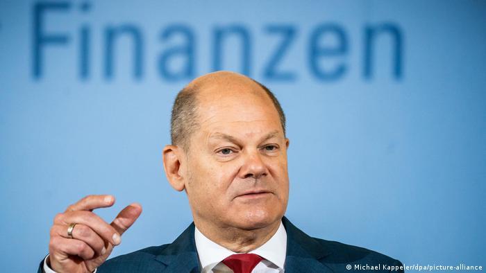 Deutschland   Pressekonferenz zu Konjunkturprogramm   Olaf Scholz