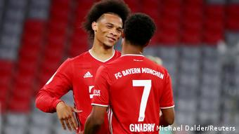 Sané and Gnabry looked a formidable duo right from the start