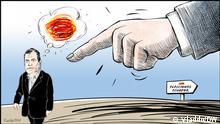 Karikatur von Vladdo I Correa, raus