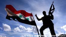 Soldaten der syrischen Regierungsarmee im Dienst in Al-Quneitra