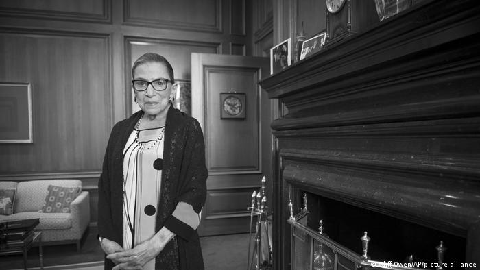 Associate Justice Ruth Bader Ginsburg is seen in her chambers