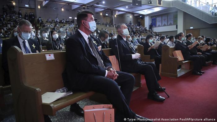 US-Diplomat Keith Krach in Taiwan (Taipei Photojournalist Association Pool/AP/picture alliance)