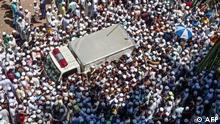 Bangladesch Trauerzug zum Schah Ahmad Schafi