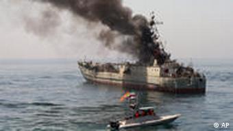 صحنهای از رزمايش دریایی ایران در خلیج،فارس