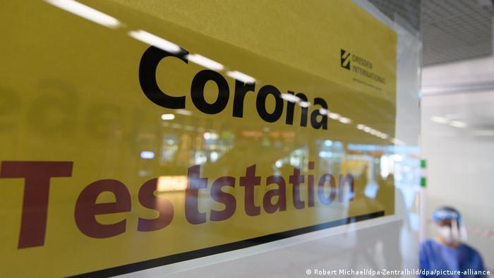 Corona test center at Dresden airport