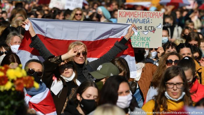Belarus Frauen-Demo in Minsk