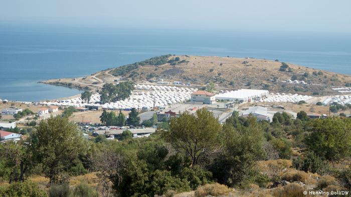 Campo de refugiados de Kara Tepe, na ilha de Lesbos, Grécia.