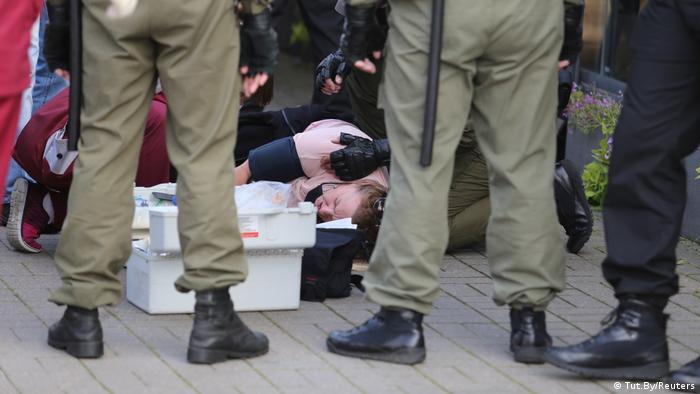 Belarus Frauen-Demo in Minsk   Festnahmen
