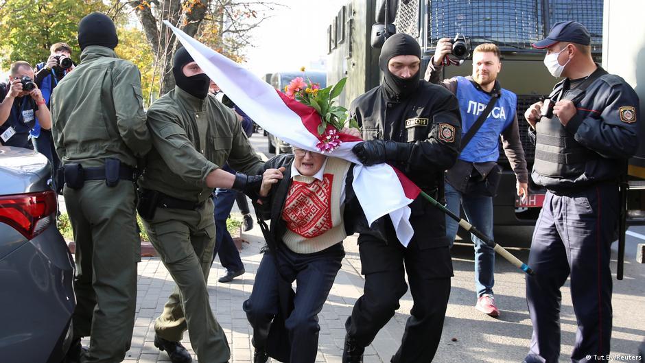 Belarus police detain hundreds at women's rally against Lukashenko's rule