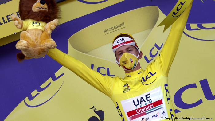 Tour de France 2020 - 20. Etappe | Tadej Pogacar (Slowenien/UAE Team Emirates) (Augenklick/Roth/picture-alliance )