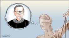 Karikatur von Vladdo In Memoriam: Ruth Bader Ginsburg