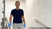 Alexei Navalny Instagram post from the Charite hospital in Berlin (Alexey Navalny/Instagram)
