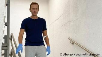 Навальный во время лечения в Шарите