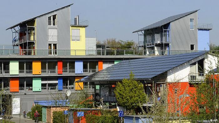 Solar settlement outside Freiburg, Germany. (APN Photo/Winfried Rothermel)