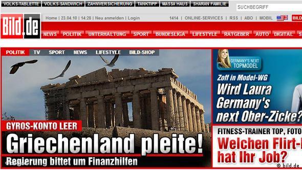 Screenshot Finanzkrise Griechenland