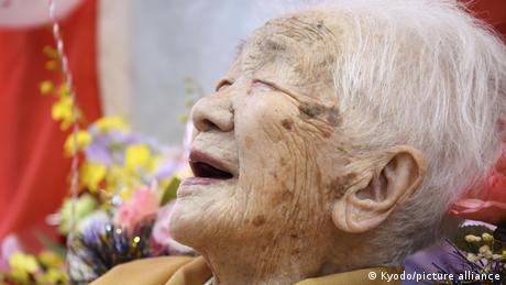Japan Älteste Frau der Welt wurde 117 (Kyodo/picture alliance)