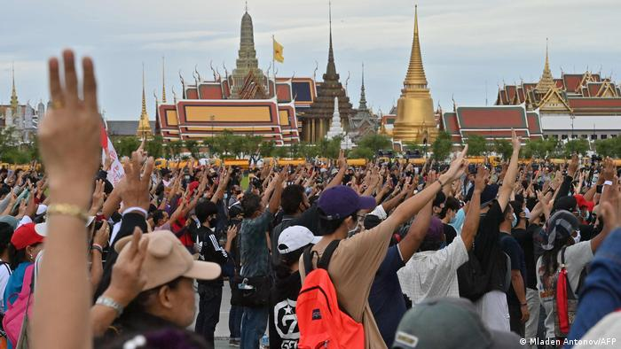 Unjuk rasa pro-demokrasi Thailand (Mladen Antonov/AFP)