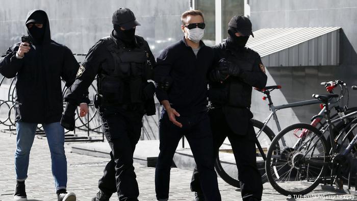 Weißrussland Minsk | Festnahmen während Protesten (TUT.BY/AFP/Getty Images)