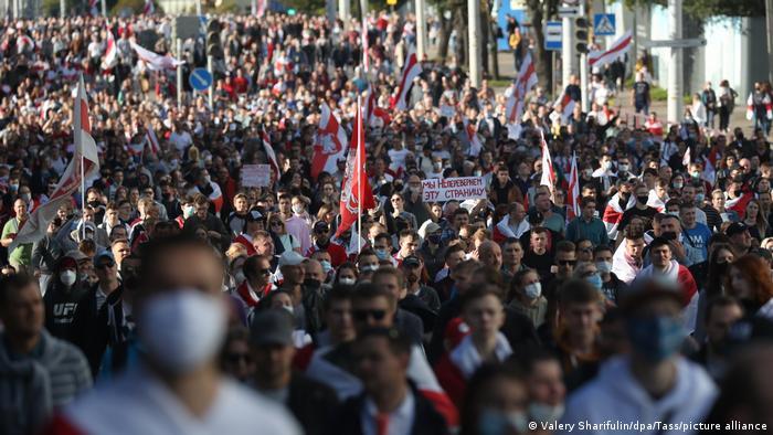 Протестная демонстрация в Минске 20 августа 2020 года