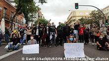 Spanien Coronavirus Protest in Madrid (David Obach/EUROPA PRESS/dpa/picture-alliance)