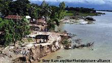 Bangladesch I Flusserosion zerstört ganzes Dorf in Dhaka, Keraniganj