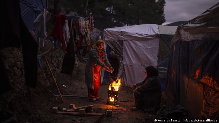 Flüchtlinge auf Samos (Angelos Tzortzinis/dpa/picture-alliance)