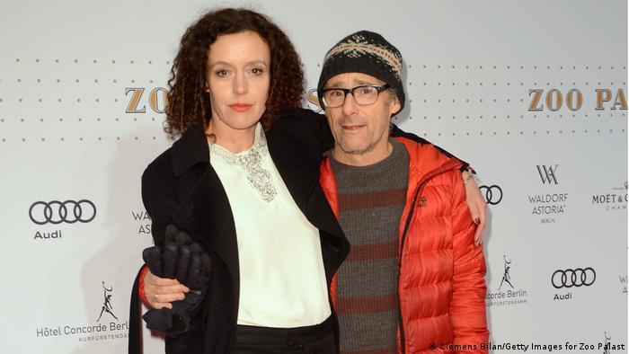 Maria Schrader con Dani Levy, también actor y director, su pareja por muchos años.
