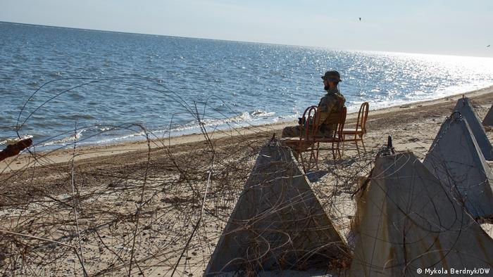 Пляж у Широкиному на Донбасі