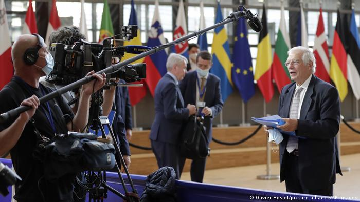 Belgien Brüssel | EU Aussenminister | Josep Borrell (Olivier Hoslet/picture-alliance/AP Images)