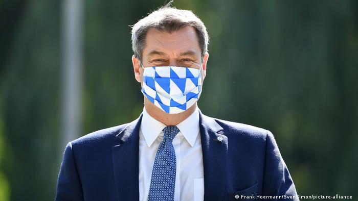 Soeder schlaegt Maskenpflicht auf oeffentlichen Plaetzen vor. (Frank Hoermann/SvenSimon/picture-alliance )