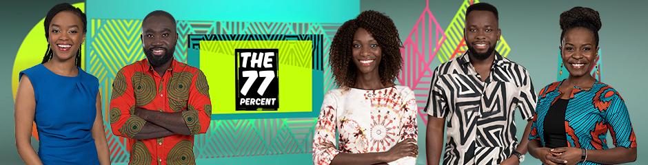 DW The 77 Percent Rubrik Themenheader mit Edith, Eddy, Liz, Michael und Wanjiku