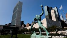 The United Nations headquarters is seen from the North sculpture garden during the 75th annual U.N. General Assembly high-level debate, which is being held mostly virtually due to the coronavirus disease (COVID-19) pandemic in New York, U.S., September 21, 2020. REUTERS/Mike Segar