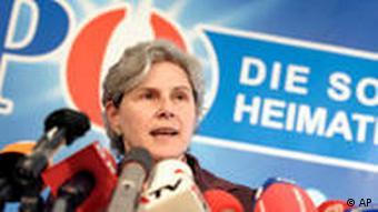 Austrian presidential candidate, Barbara Rosenkranz
